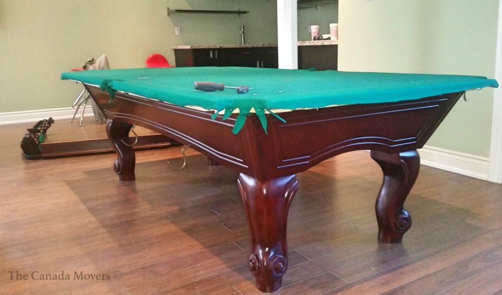 size ajax barrie brampton pool table toronto moving london movers hamilton