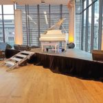 White 6 foot Grand Piano